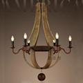 Vintage Amercian Rustic Wooden Pendant Wine Barrel Chandelier Lamp Living and Bedroom Ceiling Light Fixture Chandeliers