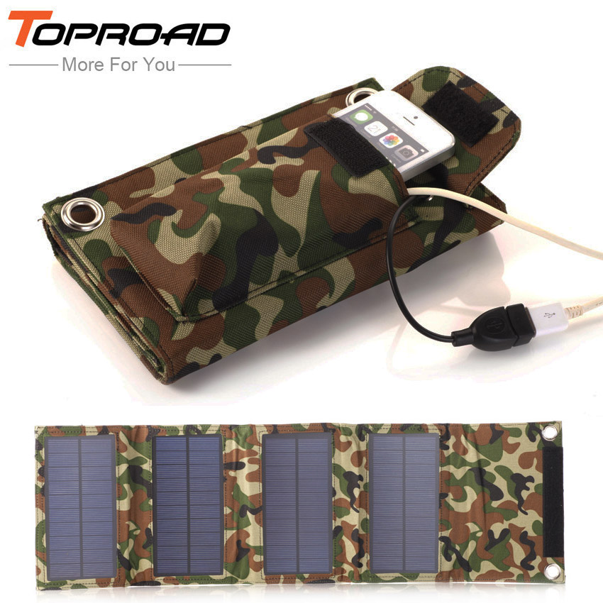 Portable Outdoor 8w Foldable Folding Solar Panel Pack Power Source Charging External Mobile USB Battery Charger for SmartPhones(China (Mainland))