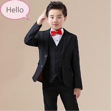 2016 nuovo modo di arrivo neonati maschi bambini giacche ragazzo vestito per matrimoni prom formale primavera autunno nero vestito ragazzo di nozze abiti(China (Mainland))