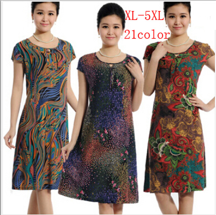 Женское платье Women dress Vestidos 2015 4XL 5XL Desigual N155
