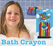 Artoys 6 pcs Different Color Bath Crayon Set Rich Color  High Quality 100% safe non-toxic Children's DIY Educational Toys Gift(China (Mainland))