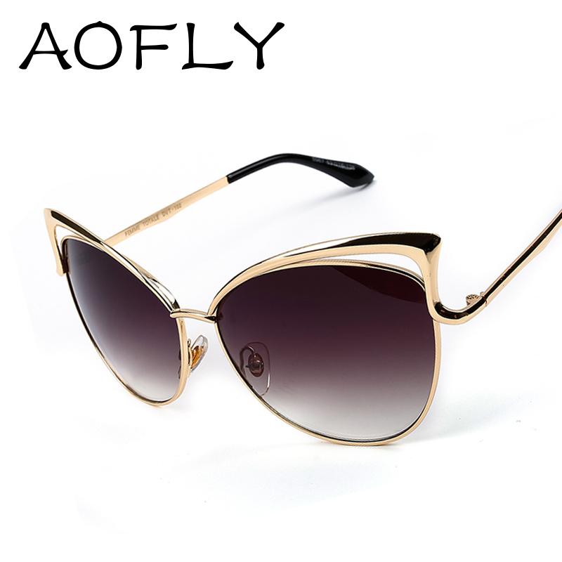 2015 New Metal Frame Dita Sexy Cat Eye Sunglasses for Women Coating Brand vintage sun glasses female oculos de grau femininos(China (Mainland))