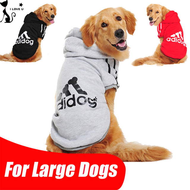 Big Dog Clothes Sport Adidog Pet Clothing For Large Dogs Hoodie Golden Retriever Coat Labrador Cotton Costume Size 2XL-9XL 113