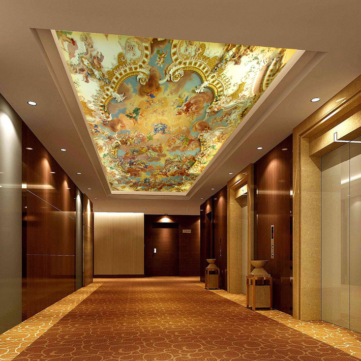 3d ceiling murals bing images for Ceiling mural decal