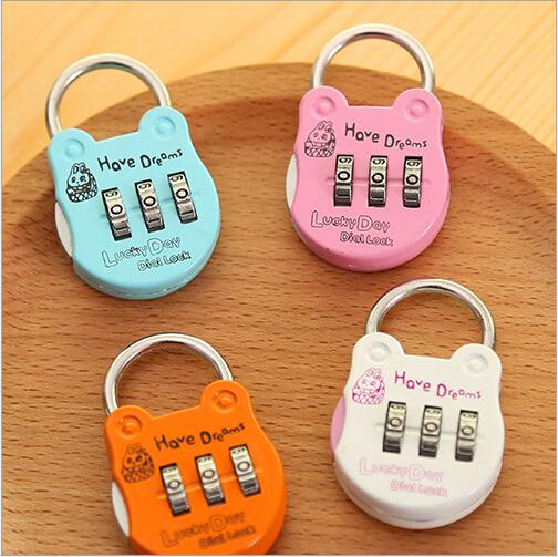 Travel Portable Luggage locks Mini Lock desk Drawer Diary cabinet digital Code Number key lock toy furniture padlock decoration(China (Mainland))