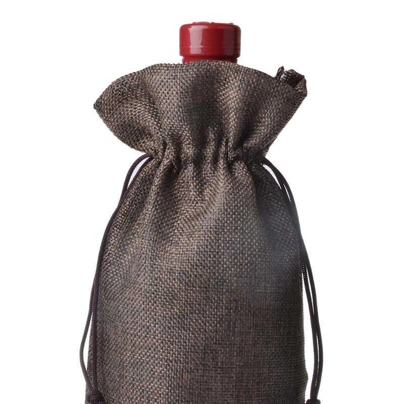 Jute wine bottle bags 15cmx35cm 6 x 185 champagne bottle covers jute wine bottle bags 15cmx35cm 6 x 185 champagne bottle covers linen gift pouches burlap hessian packaging bag us486 fandeluxe Gallery