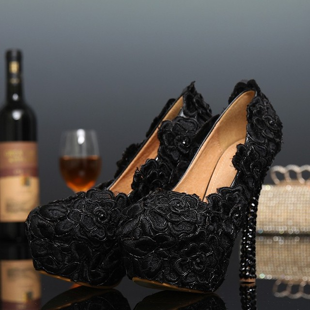 Womens black dress shoes wedding