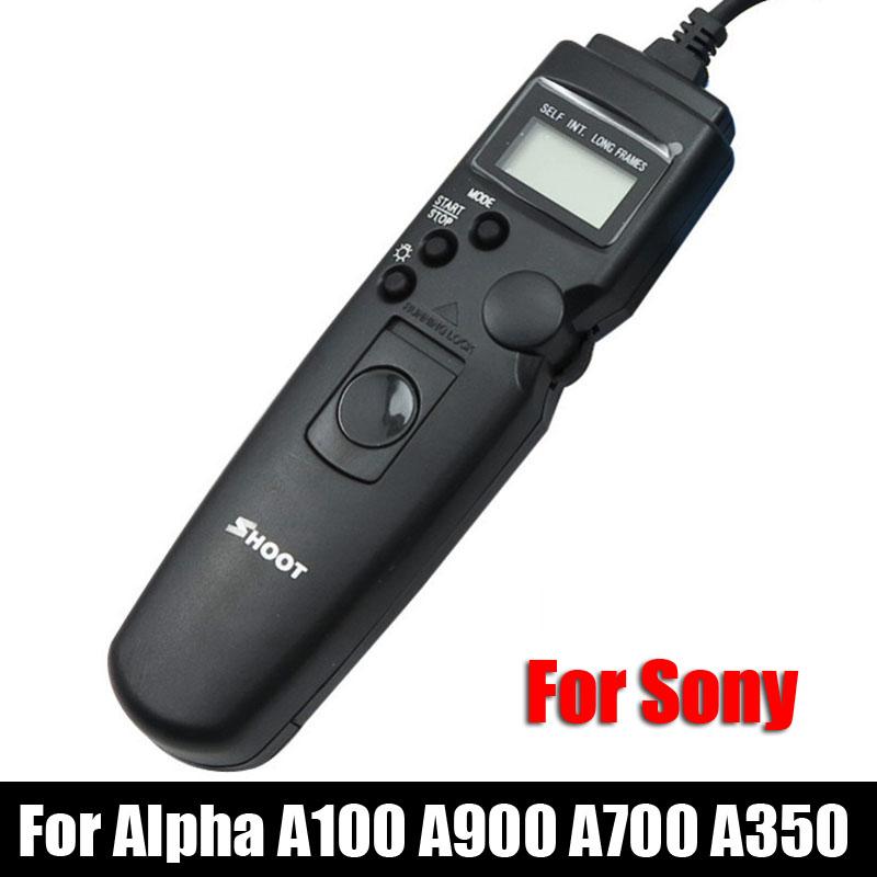 TC-S1AM LCD Selfie Timer Remote Control Shutter Cable for Sony Alpha A100 A100K A900 A700 A350 A300 A200 Minolta DSLR Camera(China (Mainland))