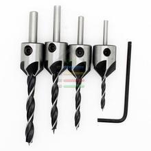 4pcs HSS Counter Sink Bits Wood Countersink Power Tool Bit Set 5 flutes Woodworking Chamfer Industrial Countersinks Bit Reamer