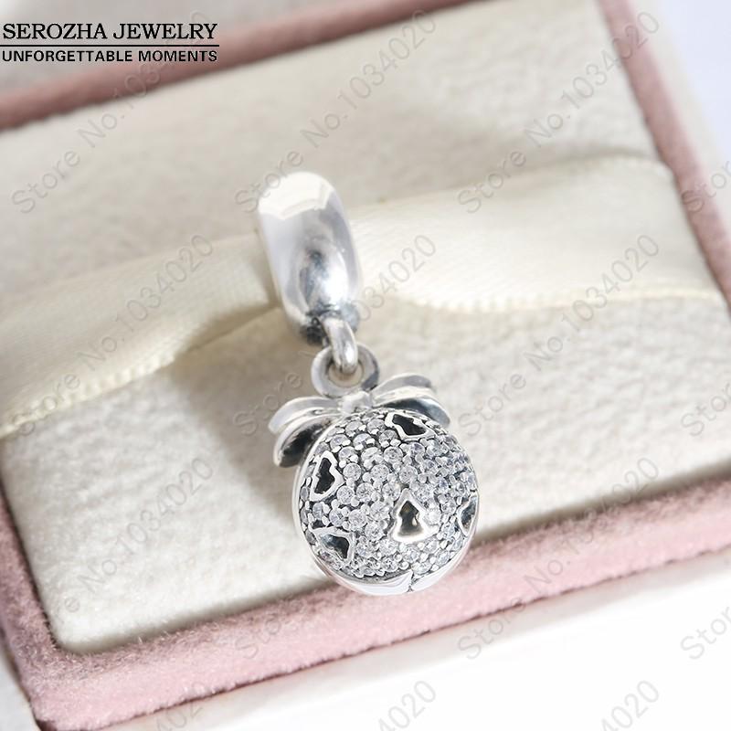 Clear CZ Christmas Wish Charm Pendant 925 Sterling Silver Black Friday Snowflake Charms Diy Winter Brand Bracelet Fine Jewelry<br><br>Aliexpress