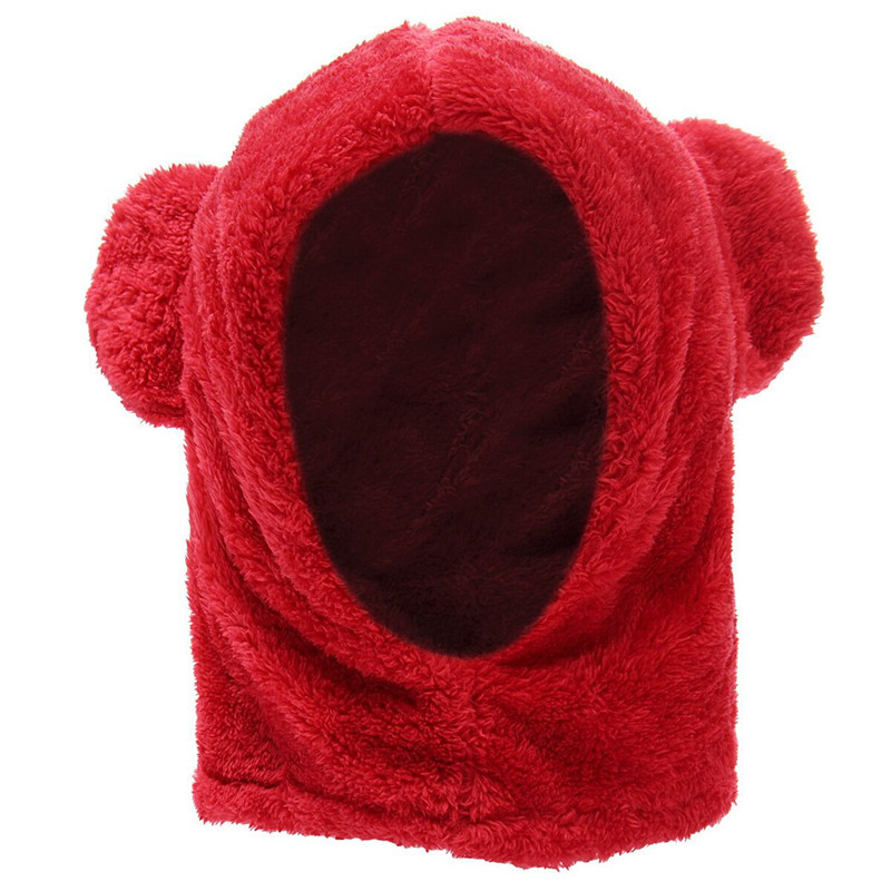 Cute Baby Kids Toddler Warm Winter Coral Fleece Hat Ear Cap Hood Scarf Gift Earflap Newborn Christmas Photography Props