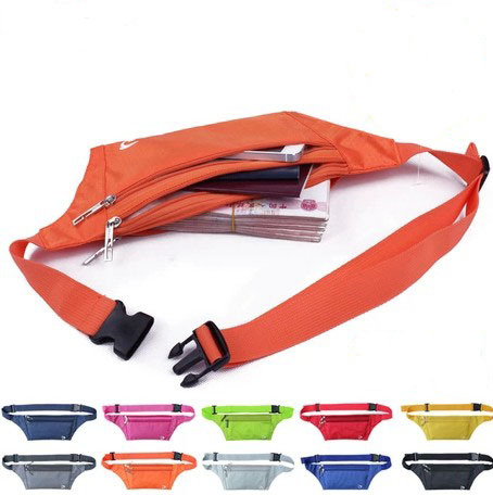 Running sports waist pack outdoor invisible anti-theft waist pack ultra-thin close-fitting waist pack testificate small bag(China (Mainland))