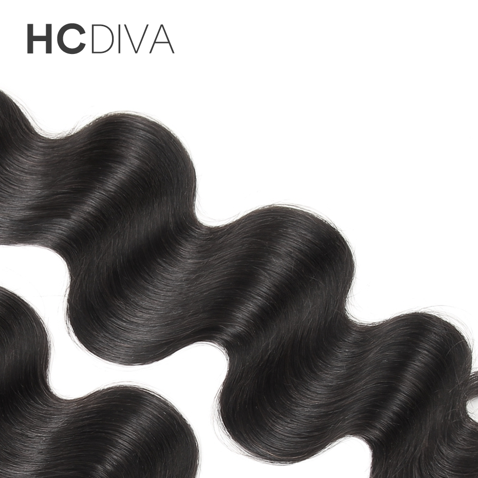 HCDIVA Unprocesse Malaysian Virgin Hair Body Wave Hair Extension 10-28 Inch 1pcs Human Hair Bundle Natural Color for Black Women