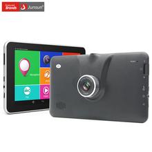 Junsun New 7 inch Android 4.4 Car GPS Navigation FHD 1080P Car DVR Camera Recorder WiFi Bluetooth Russia Europe map Vehicle gps(China (Mainland))