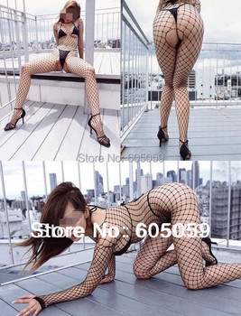 Big hole open crotch exposed ass sexy lingerie costumes women body stockings lingerie dress uhsl091