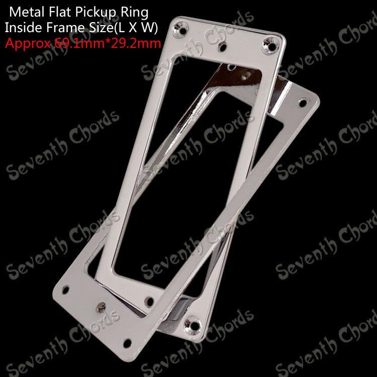 A Set 2 Pcs Mounting Inside Frame Size:69.1mm x 29.2mm Metal Flat Base Electric Guitar Pickup Humbucker Ring(China (Mainland))