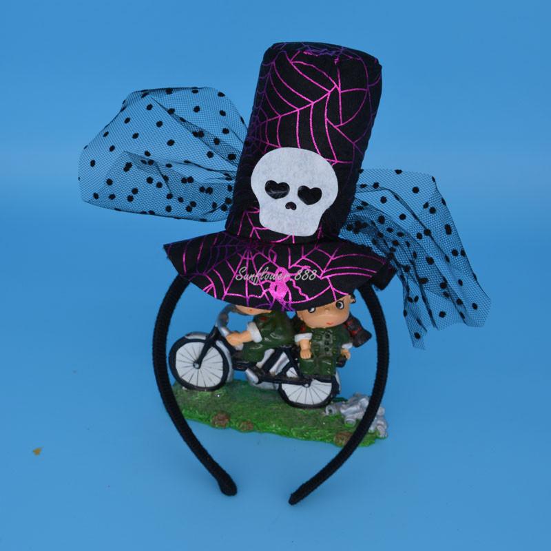 Children Skull Witch Head Hoop Headband Head Band Halloween Fancy Dress Decor(China (Mainland))