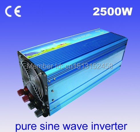 2500W 12V/24VDC 100/110/120VAC or 220/230/240VAC Pure Sine Wave PV Inverter Off Grid Solar& Wind Power Inverter PV Inverter(China (Mainland))