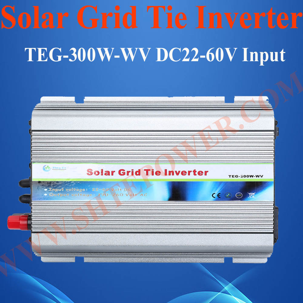Best price solar panel inverter dc 22-60v dc to ac inverter, micro grid tie inverter 300w(China (Mainland))