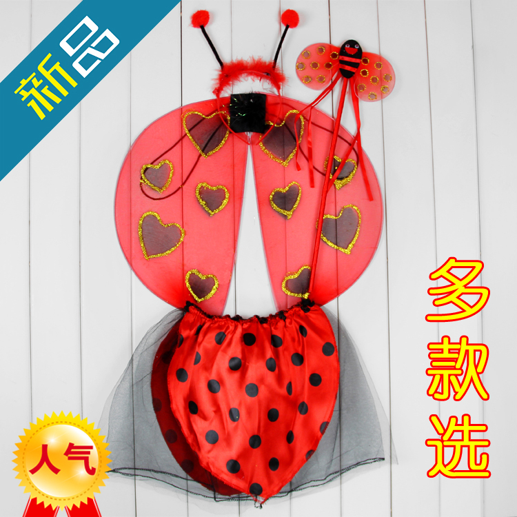 Party Supplies Halloween supplies butterfly wings ladybug wings set piece(China (Mainland))