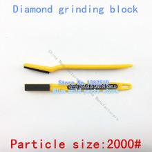 Diamond grinding bloquear, cepillo de dientes de resina muela, esmerilado y pulido de productos de carburo, tamaño de partícula : 2000#