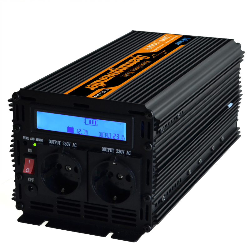 High frequency power inverter 24v 220v pure sine wave1500w /peak 3000w 24VDC TO 220VAC with LCD DISPLAY & remote Controller(Hong Kong)
