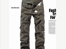 2015 New Arrival Army Green 5Colors Plus Size Militray Men's Pants Brand Designer Straight Pocket Trouses for Men