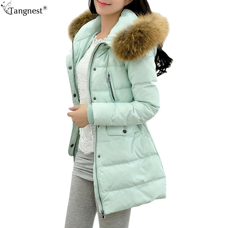 Chaqueta Plumas 2015 Warm Thick Plus Size S-3XL Winter Coat Women Big Fur Collar Duck Long Jacket Casaco Feminino WWY212