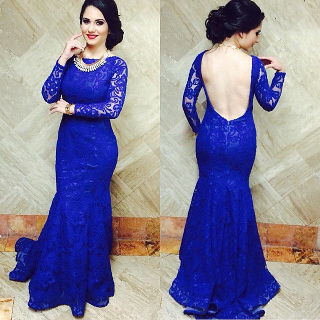 royal blue prom dresses with sleeves | Gommap Blog