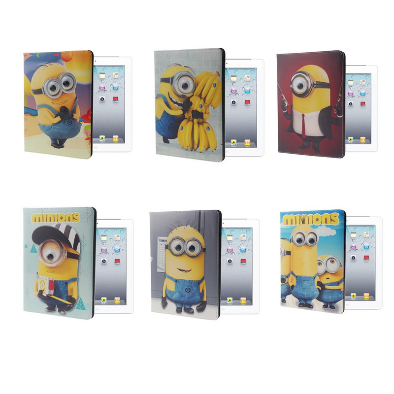 3D Despicable Cartoon Cute Stand PU Leather Wallet Filp Case Smart Cover iPad234/iPad Air/Air2, - Online Store 904713 store