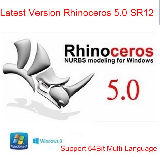 Latest Version Rhinoceros V5 SR12 For Win 64Bit Support For Multi-Language