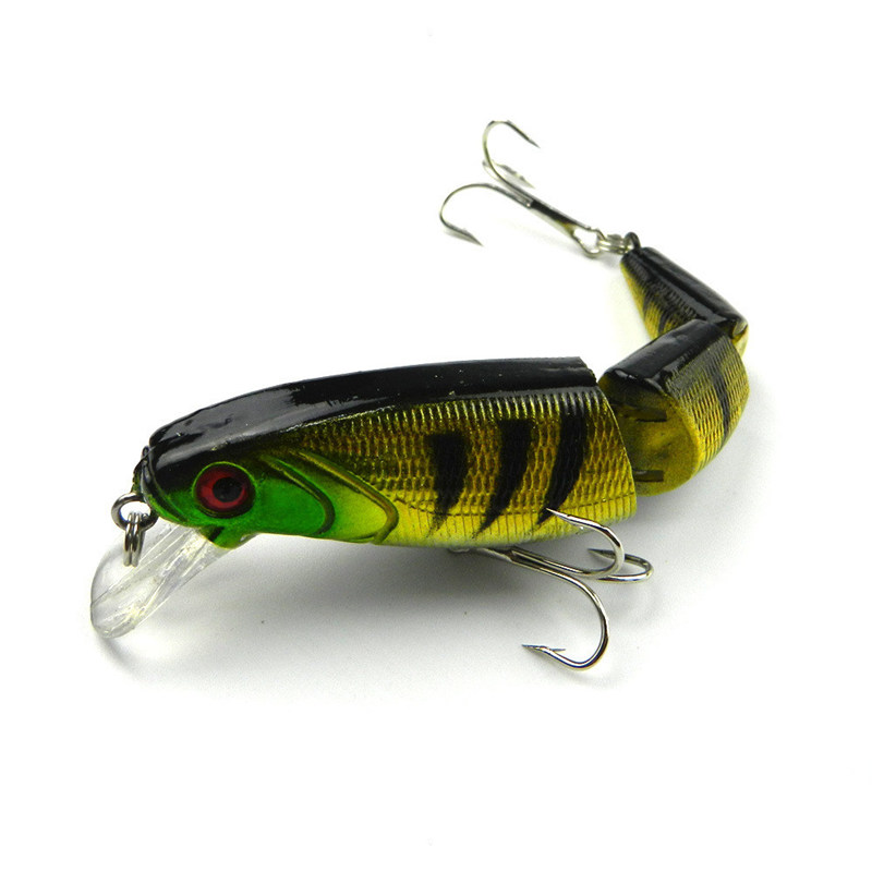 Crankbait Hard Bait Tight Wobble Slow Floating Jerkbait Lifelike RealSkin Painting Fishing Lure JM001(China (Mainland))