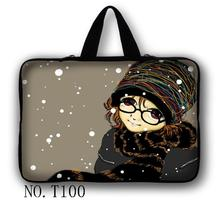 """Scarf Girl 10"""" Laptop Sleeve Bag Case Cover+ Hide Handle For 10.1"""" Samsung Galaxy Tab 2 3(China (Mainland))"""