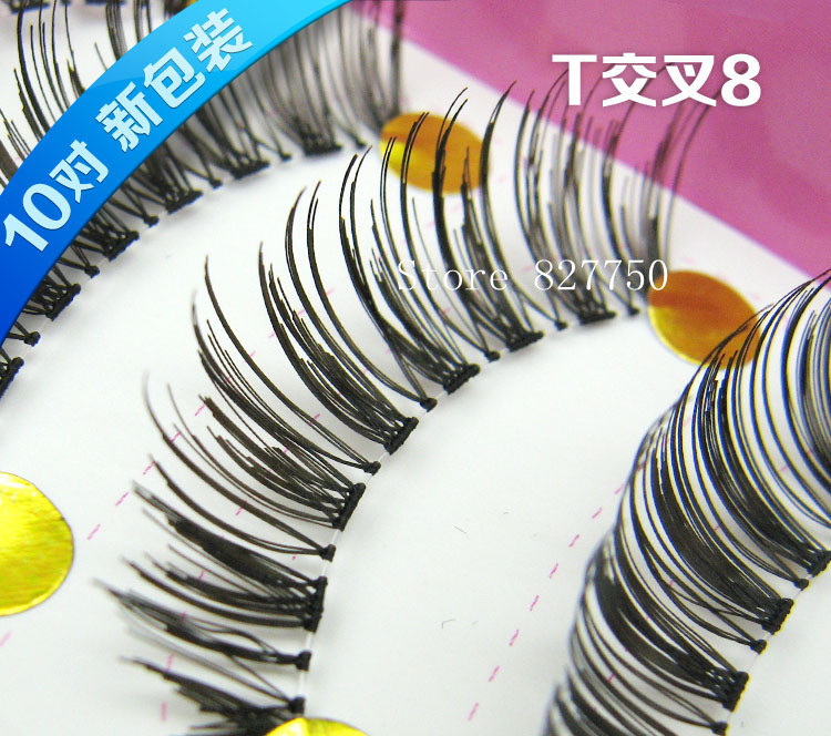 10 Pairs False Eyelashes Fashion Eyelash Extension Hand Made Transparent Terrier Eye Lash For Make Up(China (Mainland))