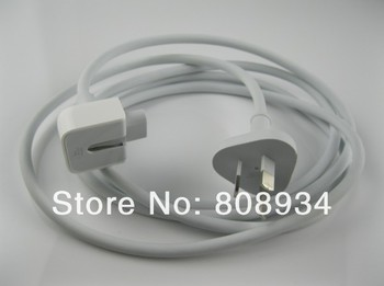 Wholesale *100pieces/lot*Genuine 1.8m  AC Power Adapter Extension Wall Cable Cord AU  Plug for Apple Mac MacBook