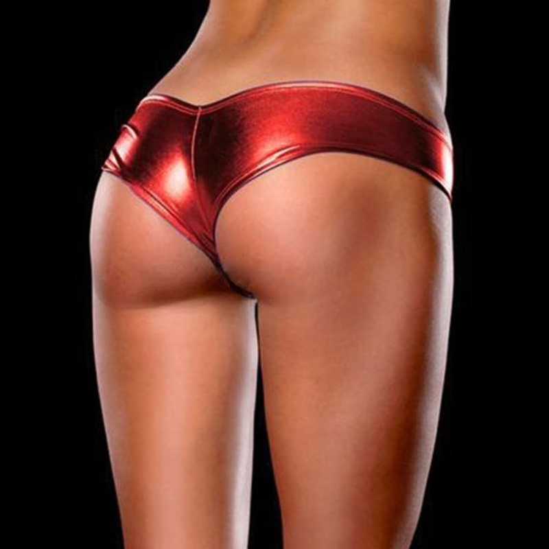 1 X Hot Sale Special Sexy Metallic Lingerie G-String Lady Micro Thong Underwear Pants Bikini Briefs 5 Colors(China (Mainland))
