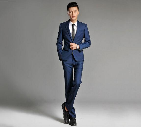 2014 neuen herren korean schlanken blau tief burgunder. Black Bedroom Furniture Sets. Home Design Ideas