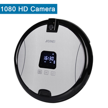JISIWEI Smart Robotic Vacuum Cleaner HD Camera S+ Model Silver TPU Avoidance Sensor Remote APP Control Robot Clean Mopping Tool(China (Mainland))