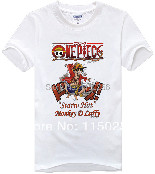 one piece Cosplay Costume straw hat Monkey d luffy Summer Brand T-shirt New For women men t shirt Free Sipping(China (Mainland))