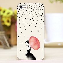 Polka Rain Design Customized transparent case cover cell mobile phone cases for Apple iphone 6 6plus hard shell