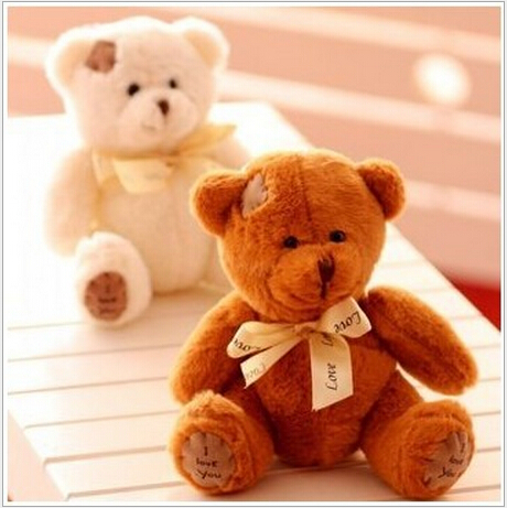 20CM Free Shipping Stuffed Dolls Teddy Bears Patch Bears Three Colors High Quality Plush Toys NTP105E(China (Mainland))