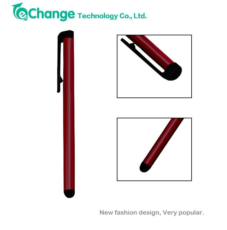 universal red stylus capacitive touch screen pen for samsung galaxy i9100 galaxy s2 note 3 for apple iphone 5 5s EG0611