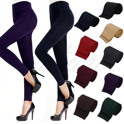 Новый женский зима теплая тонкий стрейч лосины толстые чулки брюки