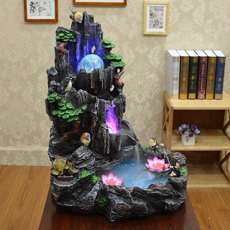 Ica water fountain rockery tank bonsai features living room decoration - Cute home store
