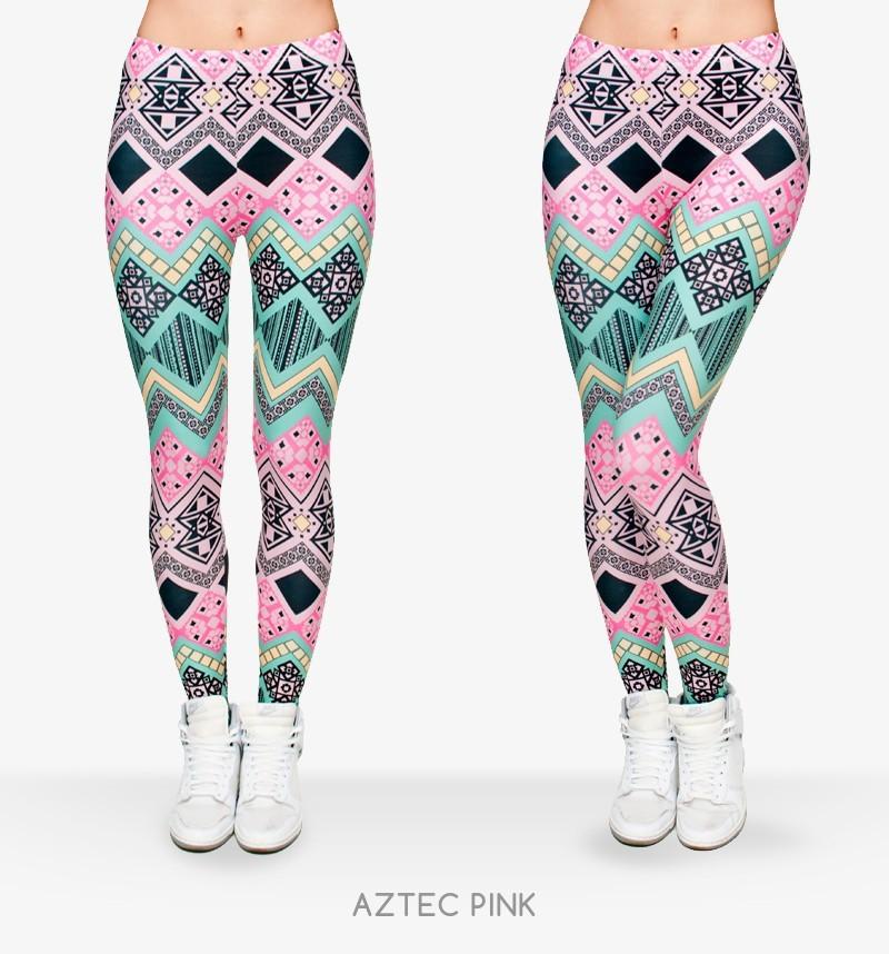 Fashion 3D Printed Women Leggings Space Galaxy Leggins Tie Dye Fitness Pant 002 - Natalie store