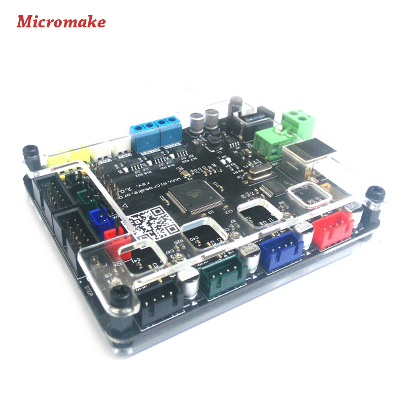 Micromake 3D Printer Controller Board Main Control panel Compatible Ramps 1.4 Support Heated Bed 3D Printer Parts(China (Mainland))