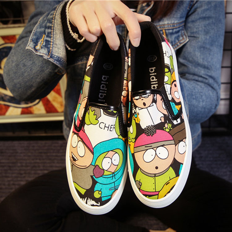 Hot Selling Loafer Shoes Sparing Students Lazy  Flate  Casual Shoes Low Thick Soled Kevin Canvas Shoes-in Men
