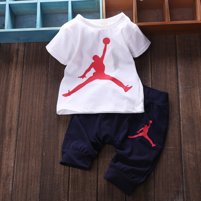 2015 New Arrive!Baby Boy/Girl Summer Sport Suits 3-36M Baby clothing set Short sleeve shirt+pants newborn Kids clothes sets!(China (Mainland))
