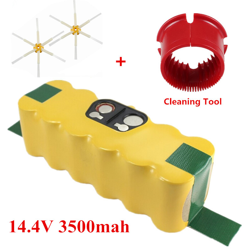 3500mAh Battery Robotics for iRobot Roomba 500 510,530,535,540,550,560,570,580+2pcs Side Brushes and cleaning tools(China (Mainland))