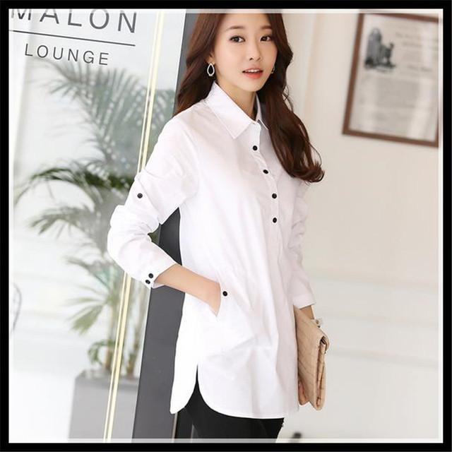 Блузка рубашка 2016 женщины белая рубашка Большой размер элегантный blusa feМиниna ...